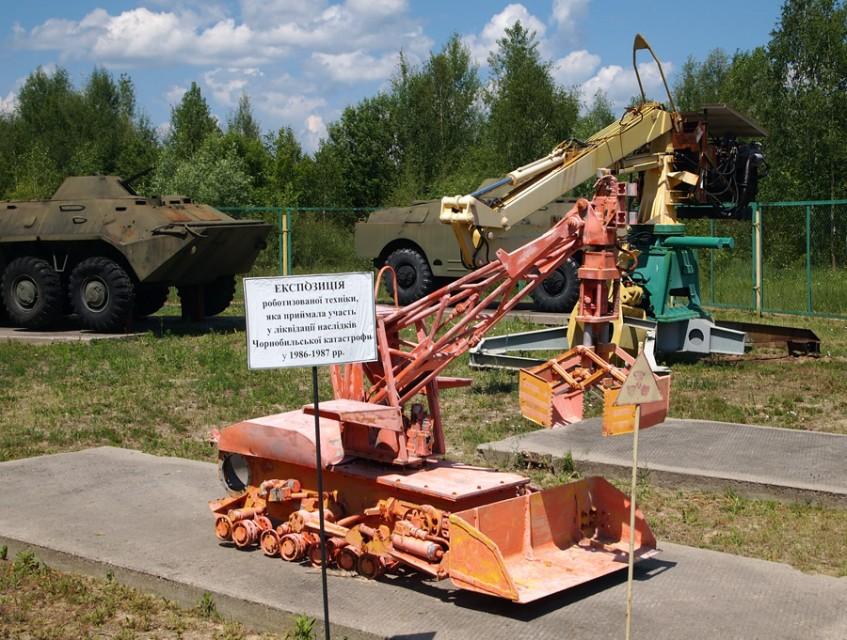 Mobot vyvinutý Moskevskou státní technickou univerzitou speciálně pro odklízený radioaktivních trosek v Černobylu. (Zdroj: 360carmuseum.com)