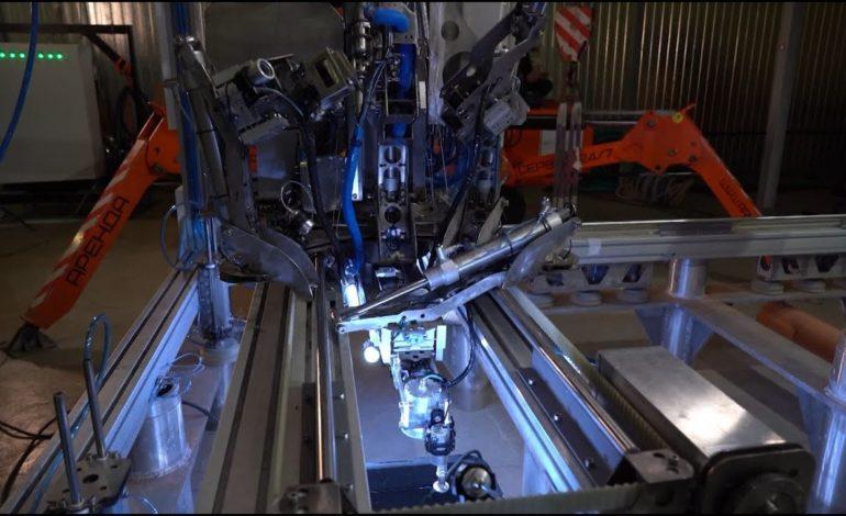 jaderná energie - Unikátní podvodní svařovací robot pracuje v JE Leningradská II - Nové bloky ve světě (Zkousky podvodniho svarovaciho robota v 6. bloku Leningradske JE II) 1