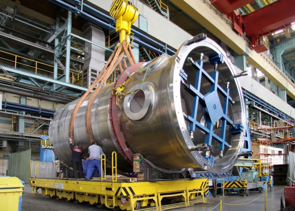 Vnitřní části reaktoru EPR ŠKODA JS vyráběla pro jaderné elektrárny Olkiluoto (Finsko), Tchaj-šan (Čína) a nyní je vyrábí i pro britskou Hinkley Point C. (Zdroj: ŠKODA JS)