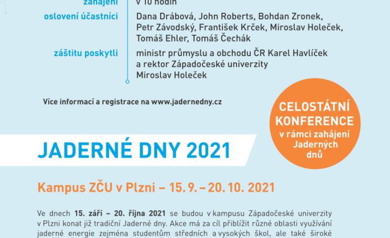 jaderná energie - Jaderné dny 2021 budou v září - V Česku (JD plakat QR kod studenti print) 1