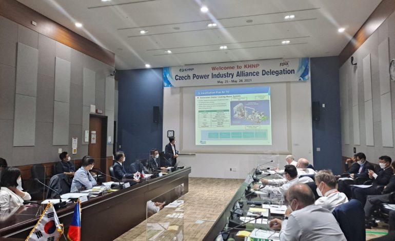 jaderná energie - Představitelé českého průmyslu jednali v Jižní Koreji o možné spolupráci na dostavbě jaderných bloků v ČR - Nové bloky v ČR (Jednani 3) 2