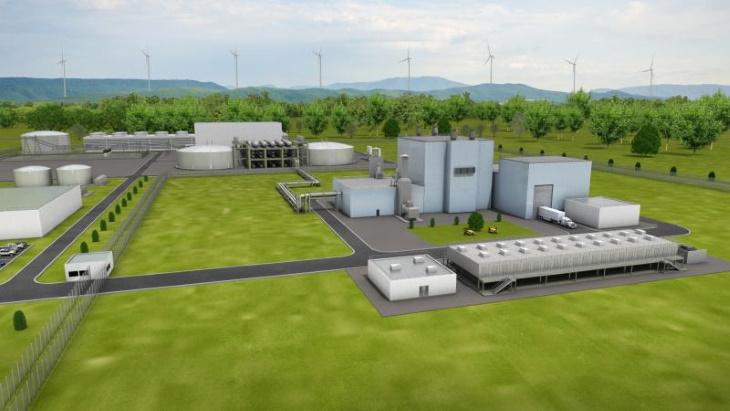 Vizualizace bloku s reaktorem Natrium. (Zdroj: TerraPower)
