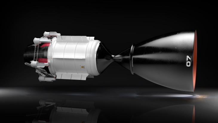 jaderná energie - Dceřiná společnost USNC podpoří dodavatele cislunárních raket - Jádro ve vesmíru (Nuclear Thermal Propulsion Design USNC Tech) 2