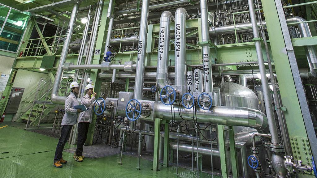 Experimentální smyčka ATLASu v jihokorejském institutu KAERI. (Zdroj: OECD/NEA)