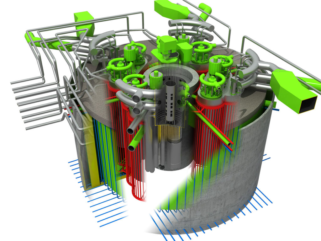 Model reaktoru BREST-OD-300. (Zdroj: Rosatom)
