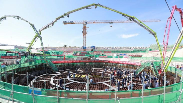 jaderná energie - Čína zahájila výstavbu malého reaktoru ACP100 - Inovativní reaktory (Changjiang ACP100 firstconcrete 13 July 2021 CNNC) 2