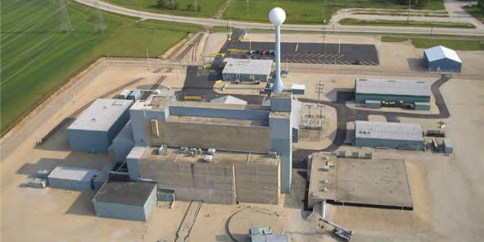 Letecký snímek skladu použitého paliva Morris Operation. (Zdroj: GE Hitachi)