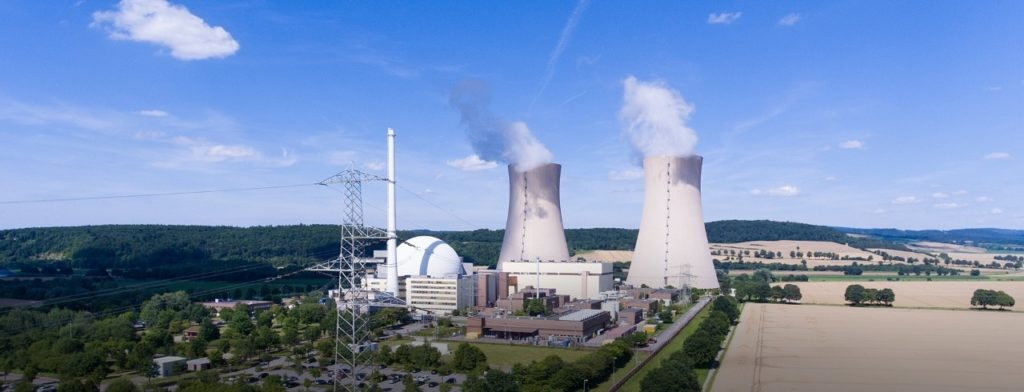 Jaderná elektrárna Grohnde z roku 1985 je jednou z těch, které mají být letos uzavřeny v rámci ústupu od jaderné energetiky. (Zdroj: Preussen Elektra)