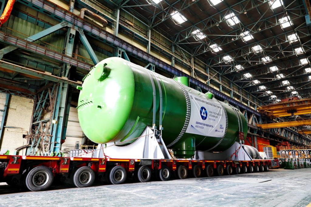 Parogenerátory pro druhý blok turecké jaderné elektrárny Akkuyu s reaktory VVER-1200 vyrážejí na cestu. (Zdroj: Rosatom)
