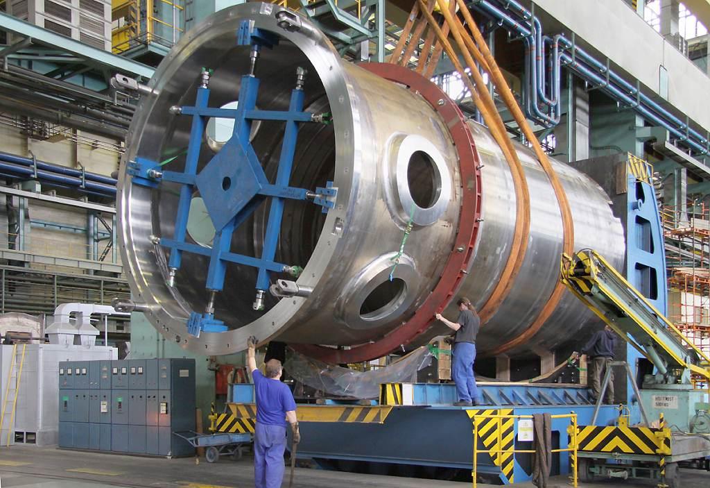 Festival Finále proběhne i na reaktorové hale, kde se vyrábí součásti reaktorů a kontejnerů na použité palivo. (Zdroj: ŠKODA JS)