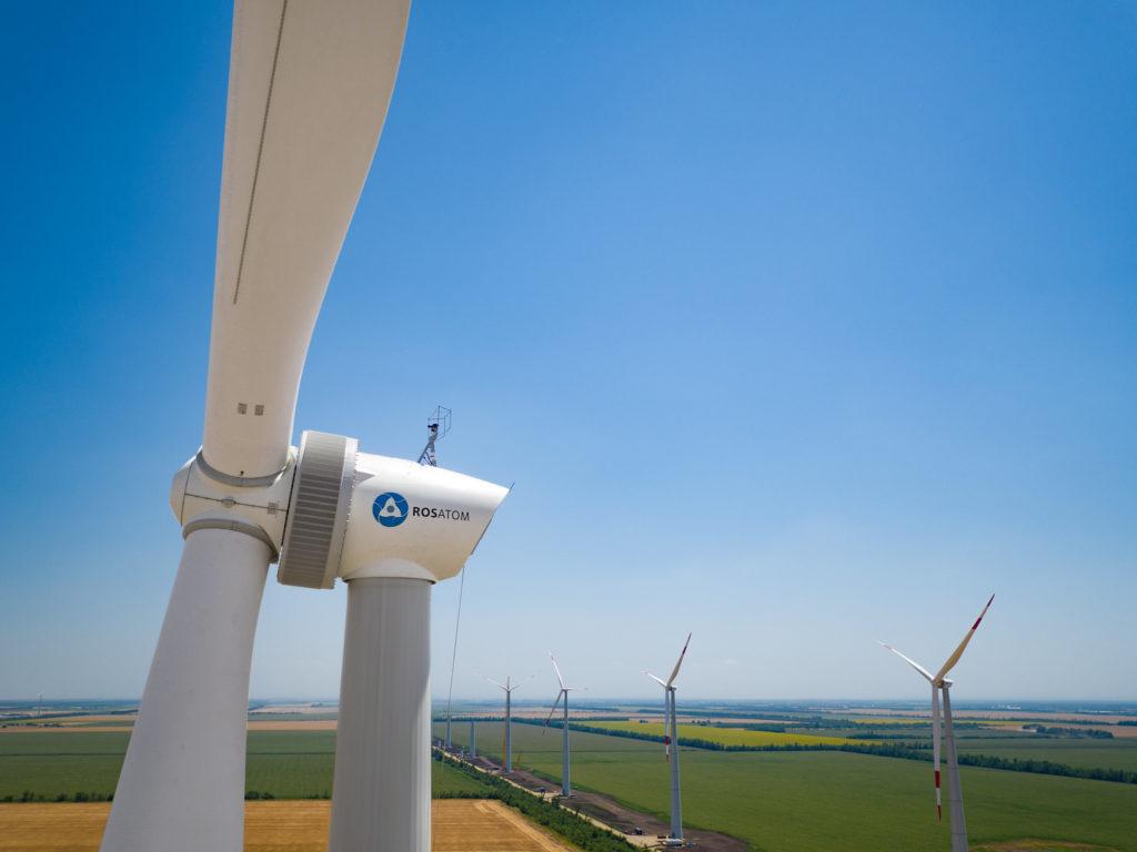 Jedna z větrných elektráren Rosatomu. (Zdroj: Rosatom)