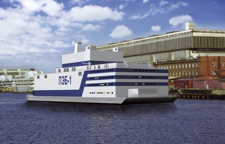 Vizualizace modernizované plovoucí jaderné elektrárny s reaktorem RITM-200. (Zdroj: Rosatom)