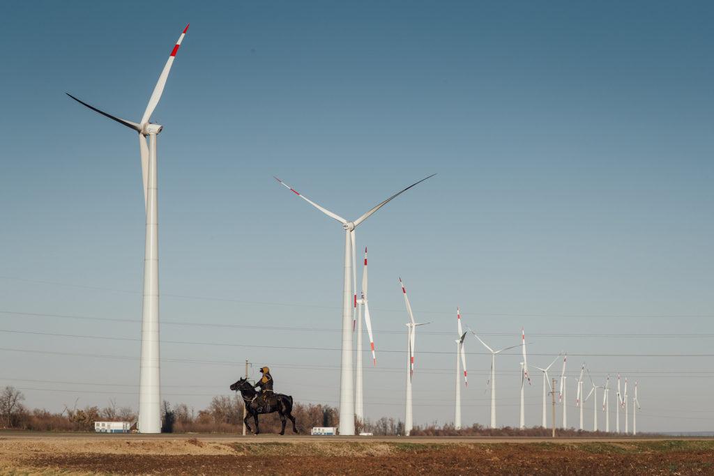 Větrné turbíny postavené Rosatomem. (Zdroj: Rosatom)