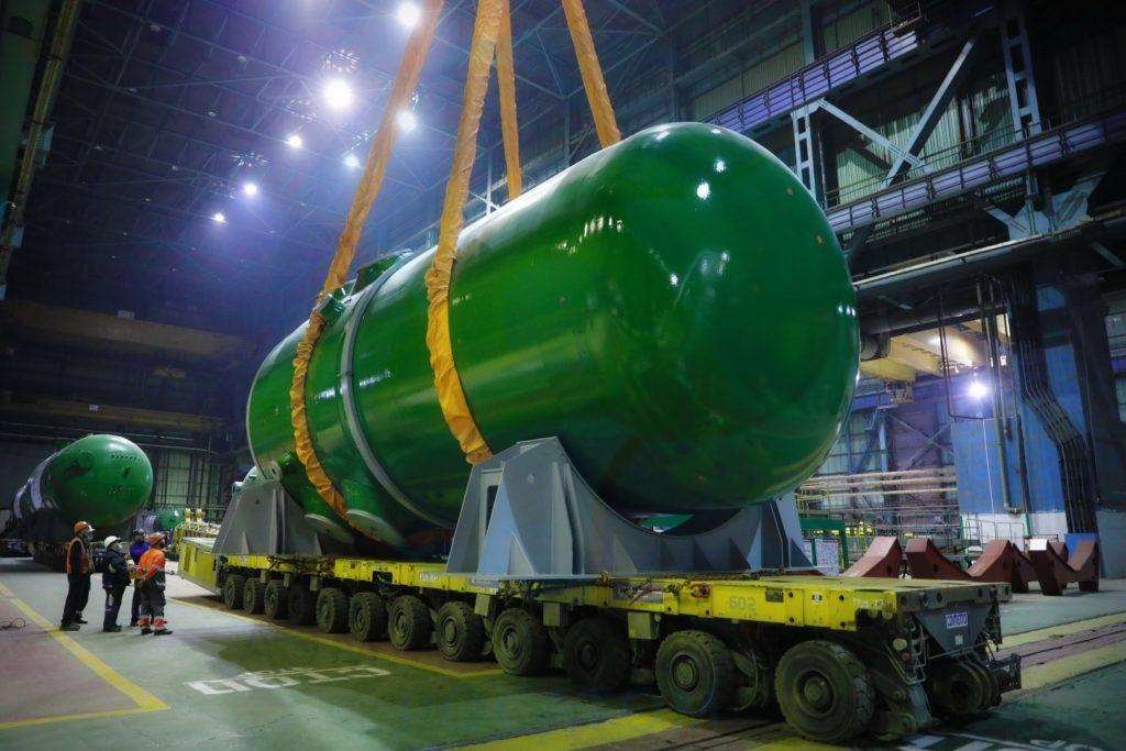 Reaktor pro první blok JE Rooppur ve výrobním podniku Atommaš. (Zdroj: Rosatom)