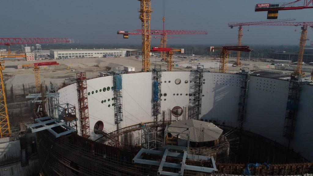 Výstavba JE Rooppur. (Zdroj: Rosatom)